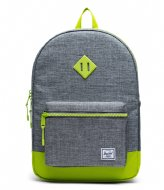 Herschel Supply Co. Heritage Youth XL raven crosshatch lime green (03024)