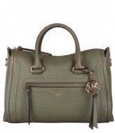 Michael Kors Carina Md Satchel army green